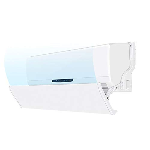 ZXXL Air Conditioning Deflector Home Bedroom Living Room Air Conditioner Windshield Wind Baffle, Wall-Mounted Air Conditioner Deflector, White (Size : 92cm/36.2inch Length)