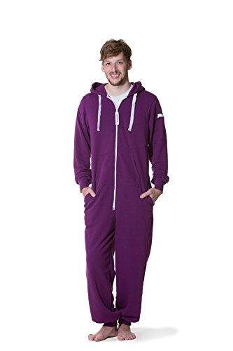 Jumpster Damen und Herren Jumpsuit Langer Overall Second G. Regular Fit Deepest Purple Violett L - 4
