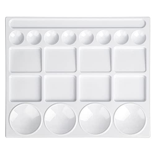 Amazon Basics 20-Well Paint Tray Palettes, White