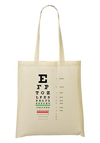 LukeTee Snellen Eye Test Chart Tragetasche Einkaufstasche