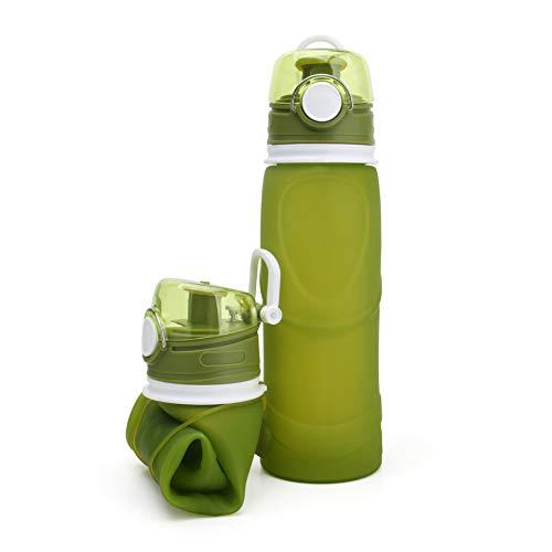 KYSM Bouilloire en Silicone Liquide Vert Haut de Gamme Cadeau Tasse Portable Voyage Pliable Bouilloire 750ml Vert