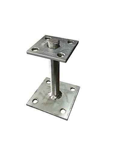 Pfostenträger Stützenfuss verstellbar 35-160 mm höhenverstellbar Carport NEU 5