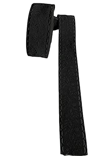 Gorro de Bicorne con ribete de cinta negra para manualidades, militar, uniforme, por metro