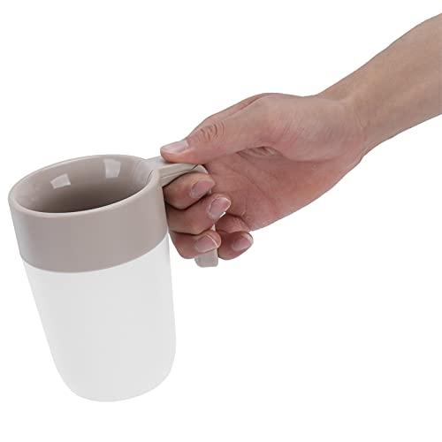 Vcriczk Taza de café, Filtro para Mantener Caliente Taza de Bebidas de Doble Capa con Tapa para la mayoría de Las Personas para Viajes de Oficina(White Coffee Color (with Suction Cup))