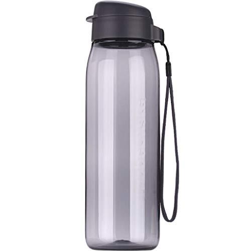Botella Deportiva Libre de la caldera, la caldera de viajes, portátil a prueba de fugas taza plástica for hombres y mujeres de fitness, de gran capacidad de deportes al aire libre taza de agua de 750