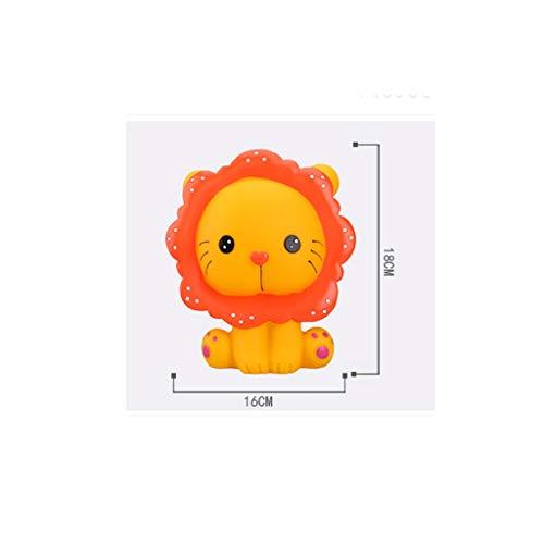 gjrfyj Hucha de hucha con forma de león de dibujos animados para ahorrar dinero en efectivo y almacenamiento de monedas para decoración del hogar (color naranja)