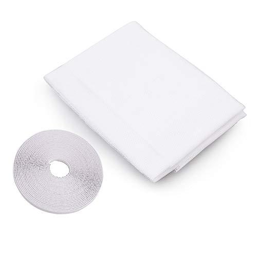 NO LOGO LT-Home, 1pc Anti-Moskito-Netz for Küche Fenster-Netz-Mesh-Screen-Moskitonetz Vorhang-Schutz-Insekt-Wanzen-Fliegen-Moskito-Fenster Maschensieb (Farbe : Ivory, Größe : 1.5 x 1.3 M)
