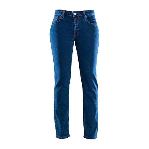 COLAC Damen Jeans Martha in Dark Blue mit Straight Fit mit Stretch, 36W / 32L, Darkblue