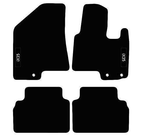 Carsio Alfombrillas a Medida para Hyundai IX35 de 2010 a 2016 con Logo de Alfombra de Coche