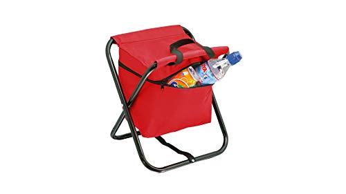 Silla Plegable con Nevera, Taburete de Pesca, Ideal para Camping, Silla para la Playa, Silla Plegable fácil de Transportar y Ligera