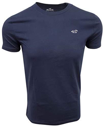 Hollister Men's Regular Crew-Neck T-Shirt (Small, Navy)
