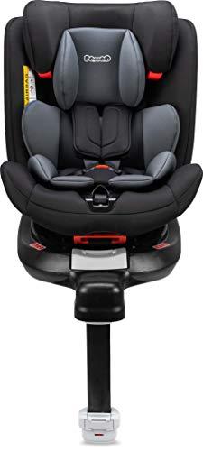 Booboo Moja360 SL Kinderautositz Reboarder für alle Altersklassen Isofix mit Standfuß - Nero