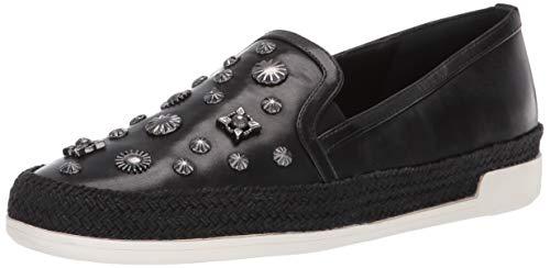 Donald J Pliner Women's PAMELASP01 Loafer Flat Black 8.5 B US