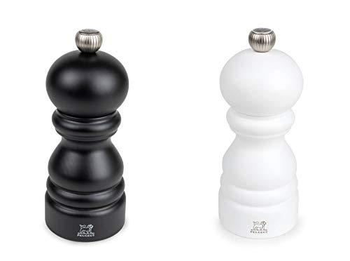 Peugeot Paris Duo Pfeffermühle und Salzmühle schwarz/weiß matt 12 cm im Set