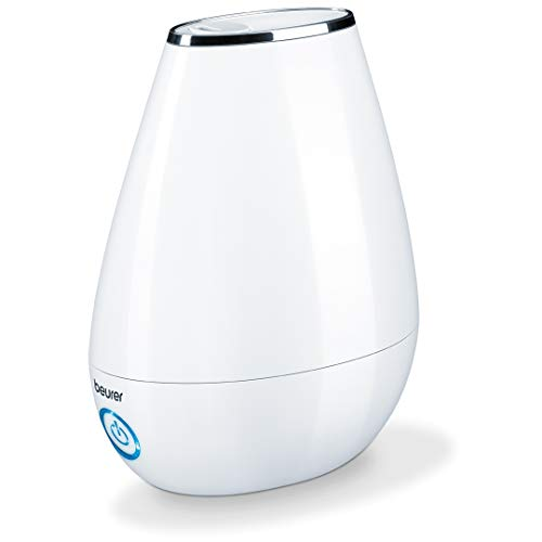 Beurer LB37 2in1 Essential Oil Diffuser & Air Humidifier | 2L Tank, Night-Mode, Auto shut-off, for Bedrooms, Baby Kids Rooms|Choose from 10 Scents | Aromatherapy, Ultrasonic Air Vaporizer| Cool Mist