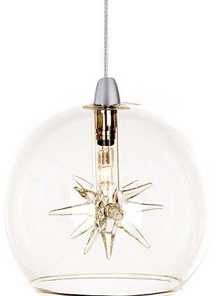 ET2 EP96080-24 Starburst Unique Mini Clear Glass Globe Rapidjack Pendant Ceiling Lighting, 1-Light, 4
