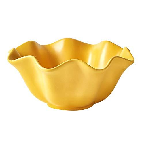 yaunli Insalatiera in Ceramica 4pcs Creativo della Glassa di Colore di Fiori in Ceramica Forma Fruit Salad Bowl Dessert Stoviglie Ciotola in Ciotola in Ceramica Decorata a Mano