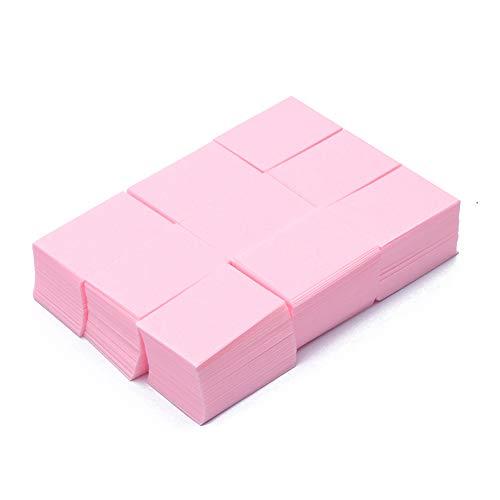 Jhtceu - 1000 toallitas limpiadoras uñas papel belleza