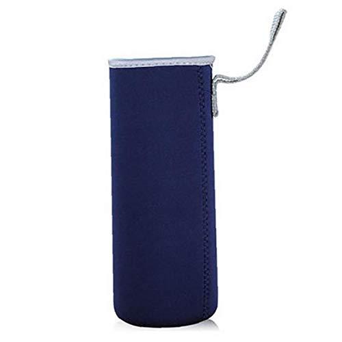 Yoyakie Botella De Agua De La Botella De La Manga De Protable Neopreno Aislamiento del Refrigerador De Agua Carrier Cubierta De La Manga (360 Azul Marino)