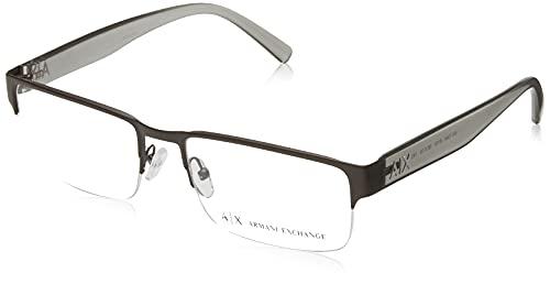 AX Armani Exchange Ax1044 - Gafas rectangulares para hombre, Lente café/Demo, 56 mm