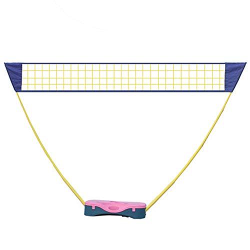 Aoligei Tragbares Tennisnetz Badmintonnetz, stabilem Eisen-Gestell, Tragbares Volleyball mit Verstellbaren Höhen faltbares Federballnetz Outdoor Trainingsnetz