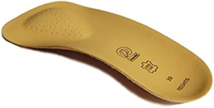 Emsold Ultra Thin Orthotic with Metatarsal Pad and Deep Heel Cup – Semi-Rigid Arch Support Insole for Men and Women – Relieves Pain from Plantar Fasciitis, Morton's Neuroma and Metatarsalgia