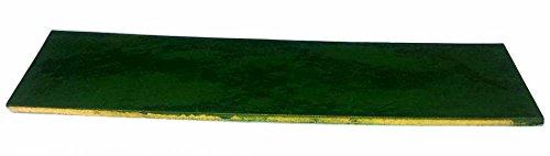 Lederabziehriemen GRÜN, 20cm x 5cm, behandelt mit Chromoxid