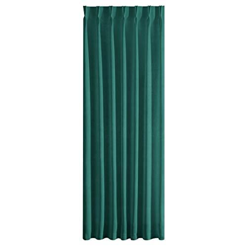 Eurofirany Ines Cortina Velvet Monocolor para salón, Dormitorio, Moderno, clásico, 1 Unidad, Verde Oscuro, 140 x 270 cm