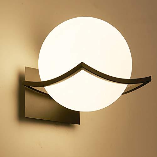 Lámpara de Pared LED Interior Iluminación - Creativo Luz de Noche Cabecera Pasillo Accesorio Montado(Bombilla no Incluida) Negro