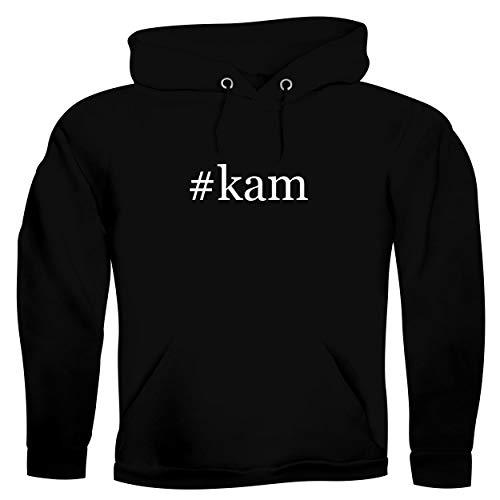 #kam - Men's Hashtag Ultra Soft Hoodie Sweatshirt, Black, Large