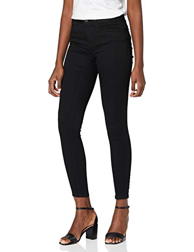 NOISY MAY Damen Skinny Skinny Jeans NMJEN NR S.S SHAPER JEANS VI023BL NOOS, Schwarz (Black), W30/L32