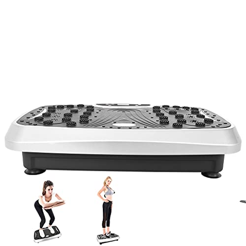 Vibration Plate Exercise Machine, 3D Whole Body Workout Vibration Quiet Non Slip Fitness Platform, Platform Massage, Bluetooth Music+ Remote+LCD Display, 99 Levels for Weight Loss & Body Toning