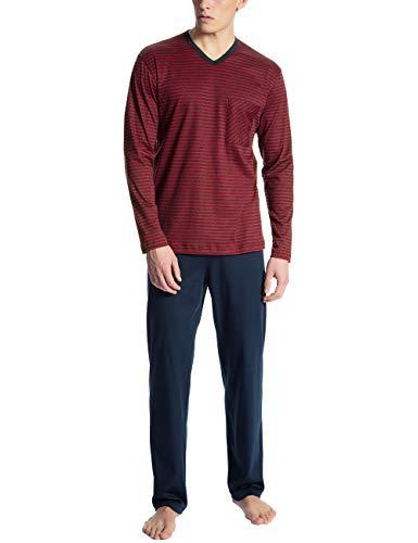 Calida Herren Relax Streamline 1 Zweiteiliger Schlafanzug, Rot (Rumba red 159), XX-Large (Herstellergröße:XXL)