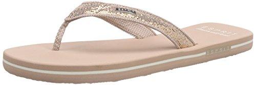 ESPRIT Damen Glitter Thongs Zehentrenner Beige (685 nude) 40 EU