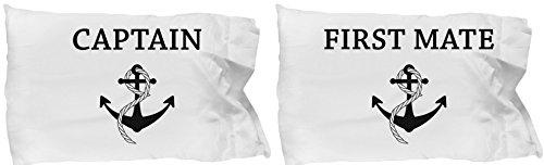 Tiny Giant T Shirts & Mugs Tiny - Juego de funda de almohada gigante para pareja romántica, diseño de ancla para parejas, regalo a juego