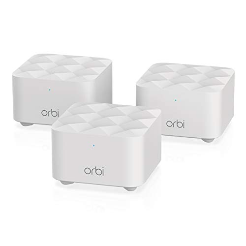 NETGEAR Orbi Whole Home Mesh Wi-Fi Network System - Eliminate WiFi Dead Zones and Enhance Speeds With Up To 4500 sq ft coverage, Replaces Router and Wifi Booster (RBK13)