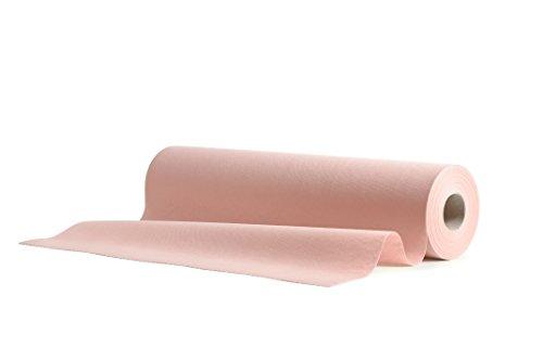 1 Runner da tavola in Airlaid 40 cm x 24 m preperforato per facilitare l'accorciamento, 20x tovaglie USA e Getta in Rotolo, Simil-Tessuto per Matrimoni Catering Hotel di Alta qualità | Rosa