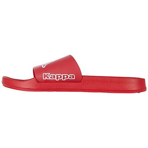 Kappa Krus, Chanclas Hombre, Rojo (Red/White 2010), 45 EU