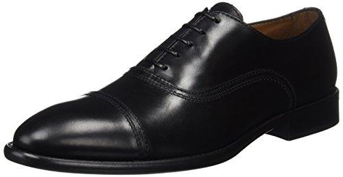 Lottusse L6553, Zapatos de Cordones Oxford Hombre, Negro (L O N D.o L D Negro), 45 EU