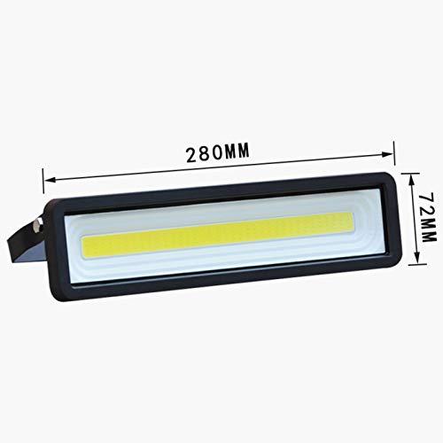 LIANGJING LED-Flutlicht 50W Innen- und Außenwassergarten Außenbeleuchtung Lampe helle Streifen wasserdicht Beleuchtung,Schwarz,Whitelight