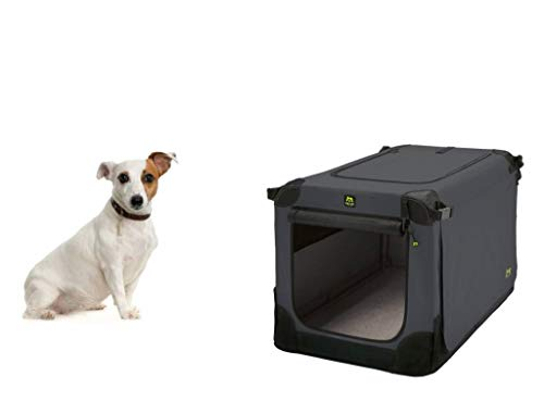 Maelson Soft Kennel Hundebox - Anthrazit - 62 x 41 x 41 cm