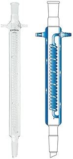Chemglass CG-1215-A-13 Series CG-1215-A Reflux Condenser, 29/42 Joint, 250 mm Jacket Length, 395 mm Height