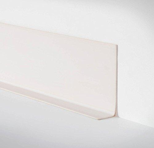 Unbekannt Döllken Selbstklebende Weichsockelleiste WLK 50 als Rolle mit 50m - 1013 weiß - phthalatfreie Abschlussleiste mit klebender Rückseite Wandabschlussprofil