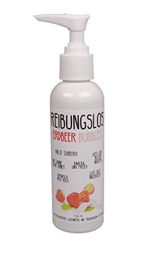 Reibungslos Erdbeer Bubbles sweet - Premium-Gleitmittel ideal für Oralverkehr, mit intensivem Erdbeergeschmack, wasserbasiert, 150ml