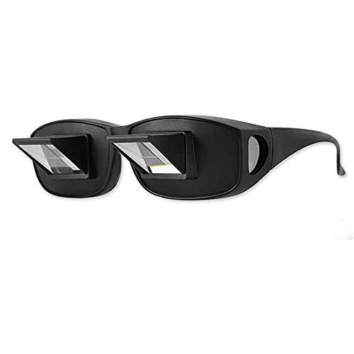 Sunny Lingt Lazy Lentes de Peso Ligero Prisma Gafas, Gafas Cama Prisma Horizontal Lazy Gafas, Horizontal Caso Gafas Gafas de Visión Belay, for la Lectura/TV/Juega al Juego Unisex (tamaño : S)