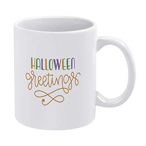 Taza de café de cerámica con cita inspiradora para Halloween, diseño de Halloween, divertido, de color blanco, regalo de cumpleaños de Navidad, para hombres y mujeres