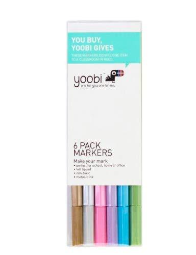 YOOBI Metallic 6 PK Markers