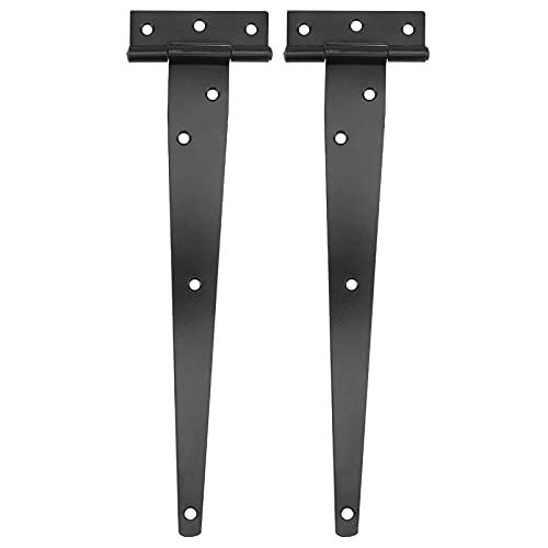 DOITOOL 2 Pezzi Nero Cerniere a t per porte in legno cardini per porte in acciaio inox cerniere per...
