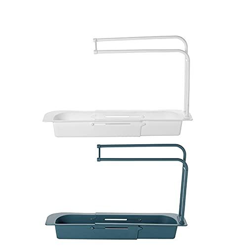 2 piezas de estante de drenaje para lavavajillas accesorios de almacenamiento cesta colgante para acabado y drenaje de fregadero