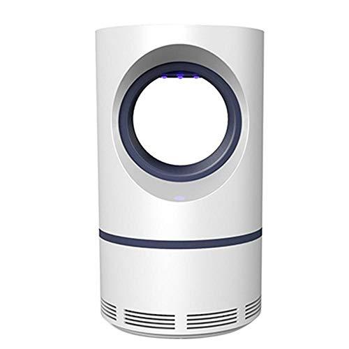 Alarmclocker8B USB Power Mosquito Killer Lamp Leads Trap Plaga Insecto plagas Asesino de la lámpara luz Ultravioleta en la Noche Repelente de Mosquitos Control-White_Blue